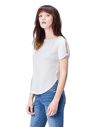 c31919732e5b6 FIND T-Shirt Col Ras du Cou Femme  Amazon.fr  Vêtements et accessoires
