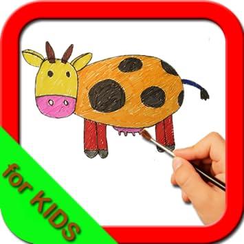 Amazon Com How To Draw Cartoon Animals For Kids Step By Step