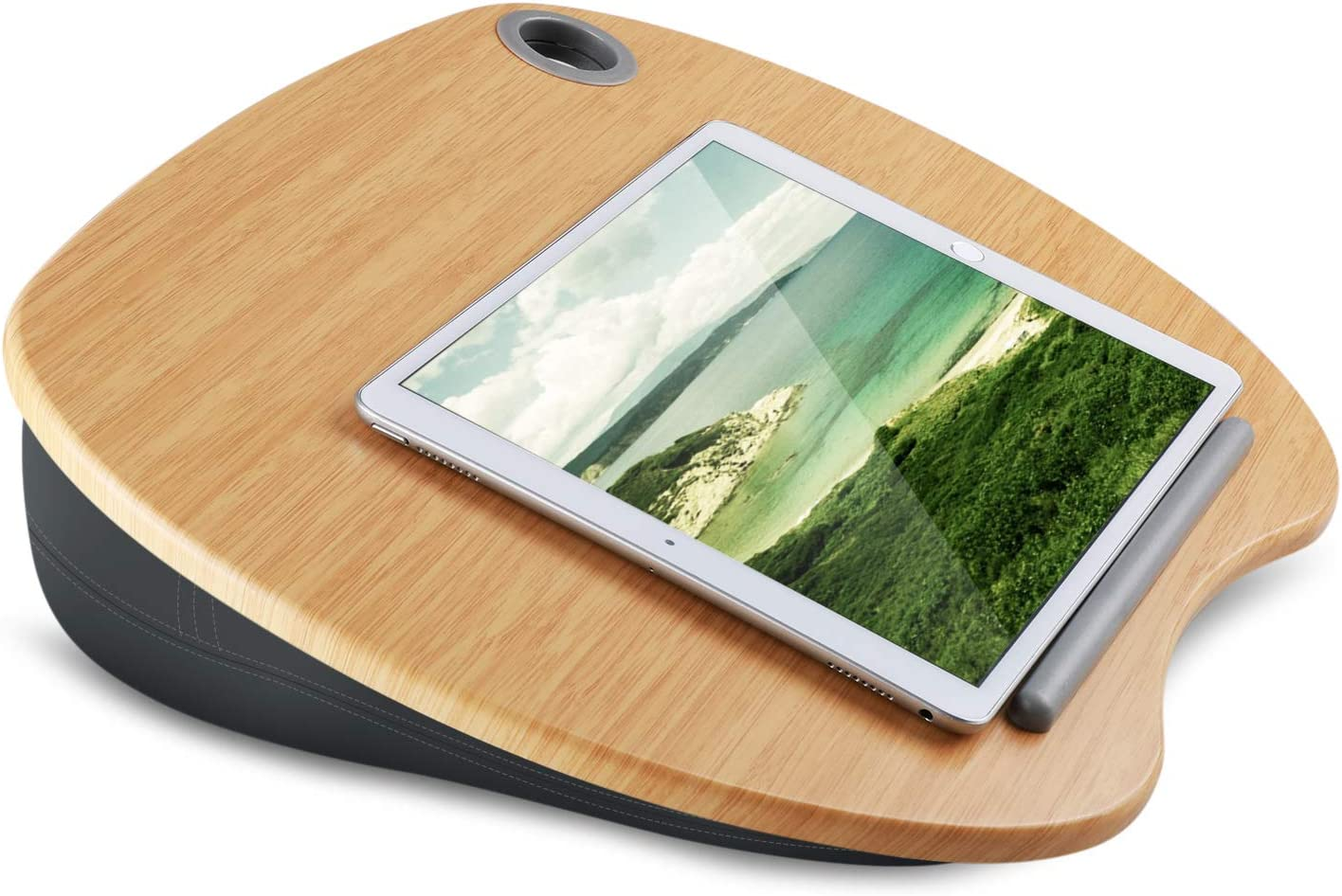Laptop Stand with Cushion  Bamboo Platform on Bed  Sofa as Book Lap Desk