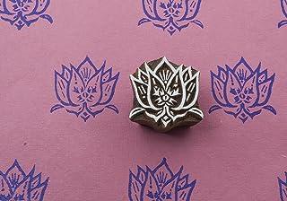 Blockwallah Indian Lotus Wooden Block Stamp