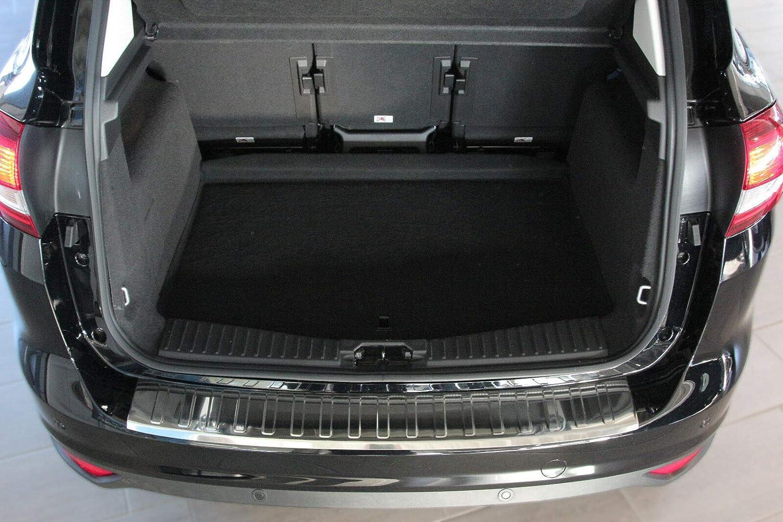 Large BJ ab 2010-mit ABKANTUNG Recambo CT-LKS-1180 LADEKANTENSCHUTZ Edelstahl Chrom f/ür Ford C MAX II