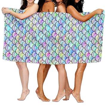Ablaze Rainbow peces escalas multiusos toallas de playa toalla de baño, suave, ligero playa