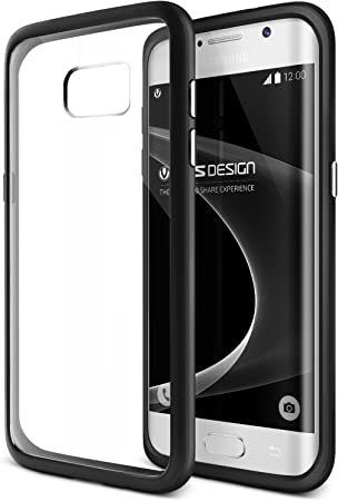 Galaxy S7 Edge Case, VRS Design [Crystal Mixx][Black]   [Clear Cover][Slim Protection] for Samsung S7 Edge