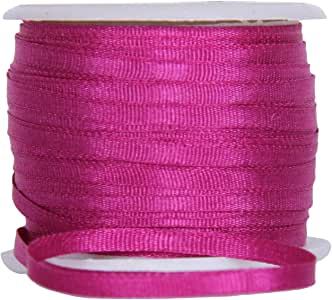 """100/%PURE SILK EMBROIDERY RIBBON 1//8/"""" 4MM WIDE 25 YARDS~ EMERALD~ COLOR"""