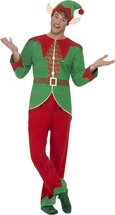 SmiffyS 46752L Disfraz De Elfo Con Pantalones, Parte De Arriba ...