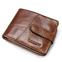 Contacts Homme Portefeuille Cuir Véritable Support de carte Bifold Trifold chemises d'affaires–Sac de Pièces