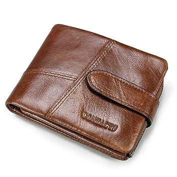 bb32d8abe327 Contacts Portefeuille en cuir v eacute ritable pour homme avec  compartiments pour cartes nbsp et poche