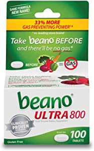 Beano Food Enzyme Dietary Supplement Tablets, 100 Tablets (Pack of 2)