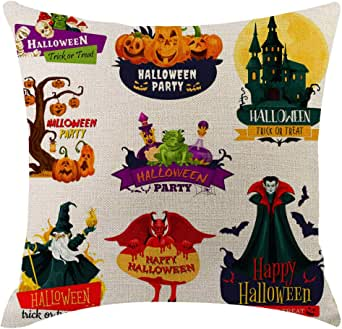 Amazon Com Shimigy Halloween Pumpkin Pillow Cover
