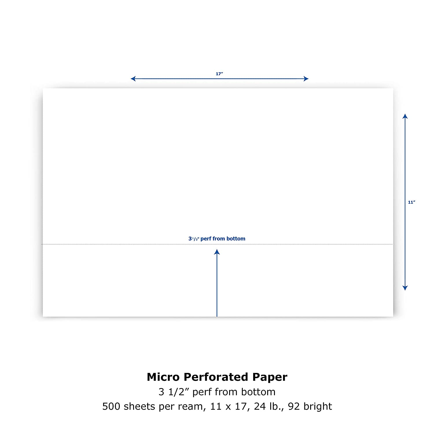 printworks professional perforated paper for statements invoices gift certificates coupons and more 85 x 14