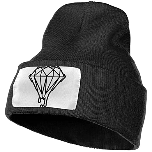 92f4991af4f LioWenm Black and White Melting Diamond Adult Unisex Beanies Hat at ...