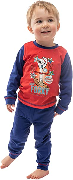 100/% Cotton Nightwear for Kids Rex and Squeeze Toy Alien Buzz Lightyear Toy Story 4 Boys Pyjamas Featuring Forky with Woody 2 Piece PJ Set with Long Sleeve Top and Pajama Bottoms