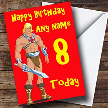 Personalised He Man Birthday Card Amazon Office Products