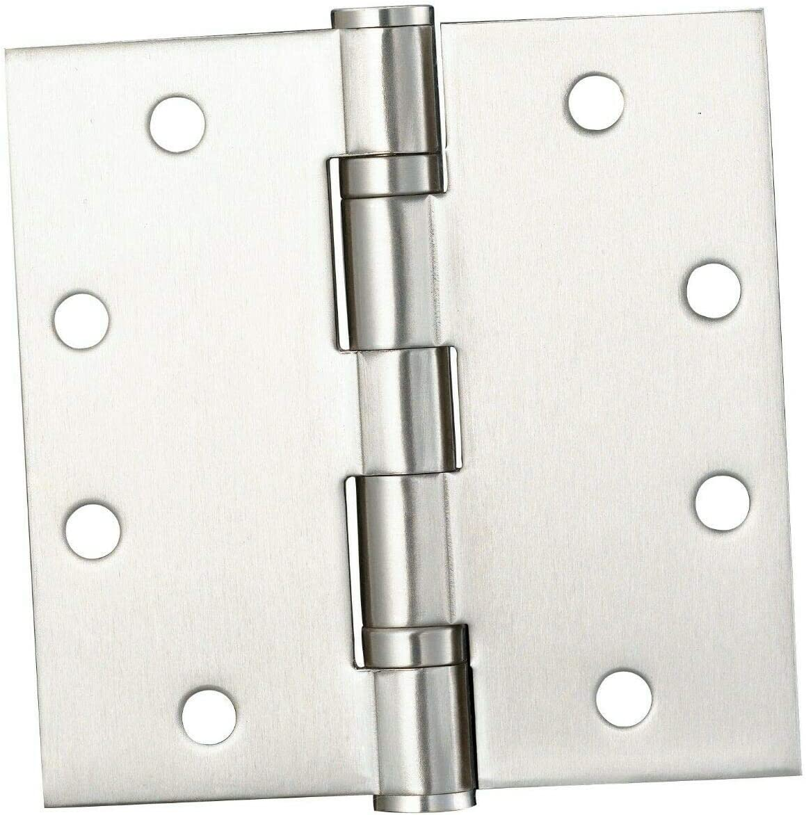 Heavy Duty Door Hinges Stainless Steel 15, 4x4 x2.5mm Round Corner by Dependable Direct- 4x4 x2.5mm -Pack of 2 or 3 4 Bearing Heavy Weight Commercial Door Hinge