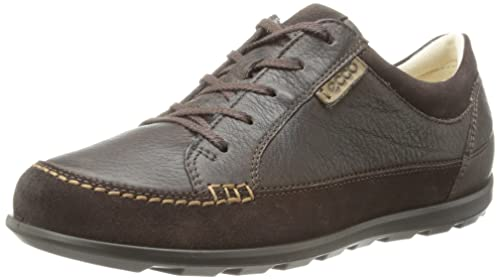ECCO Women's Cayla Lace-Up Suede Trainers, Brown (Mocha/Coffee 58755)
