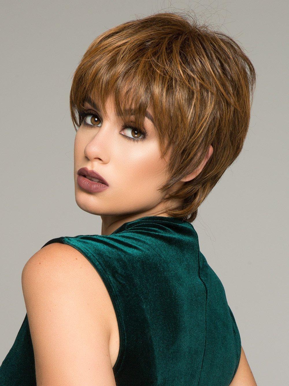 Enchant Short Shag Wig Color RL30/27 RUSTY AUBURN - Raquel Welch Wigs Tru2Life Heat Friendly Synthetic Women's Classic Cut Straight or Touseled Curls