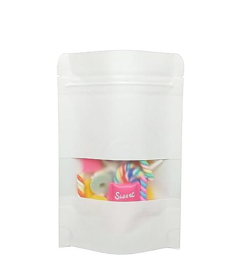 Amazon.com: 50 bolsas multiusos de papel Kraft, con cierre ...