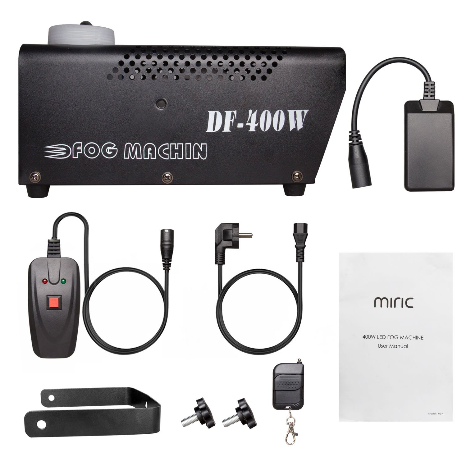 Fog Machine, Miric Smoke Machine Portable with LED Lights Equipped with Wired and Wireless Remote Control for Party, Christmas, Halloween and Weddings (400W) by Miric (Image #8)