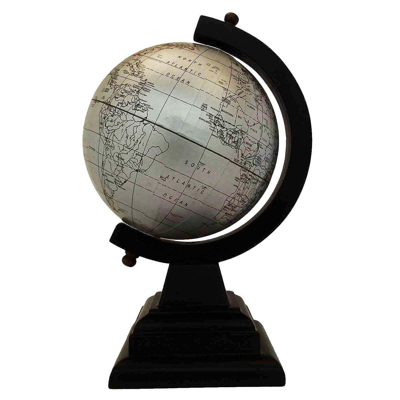 CRAFTSTRIBE Home Office Decorazioni da tavola Ornament Rotating Globe World Map Ocean Earth Globe 11'