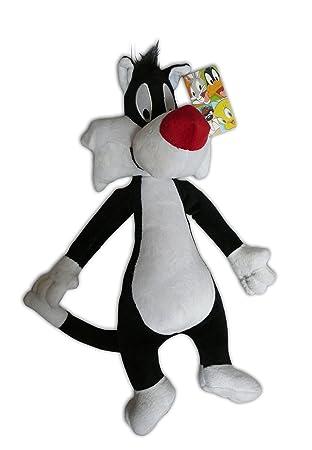 Gato Silvestre 35cm Peluche Suave Muñeco Warner Looney Tunes Silvester