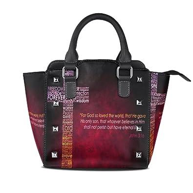 Amazon.com: leisisi para mujer bolsa de hombro Cristo Cruz ...