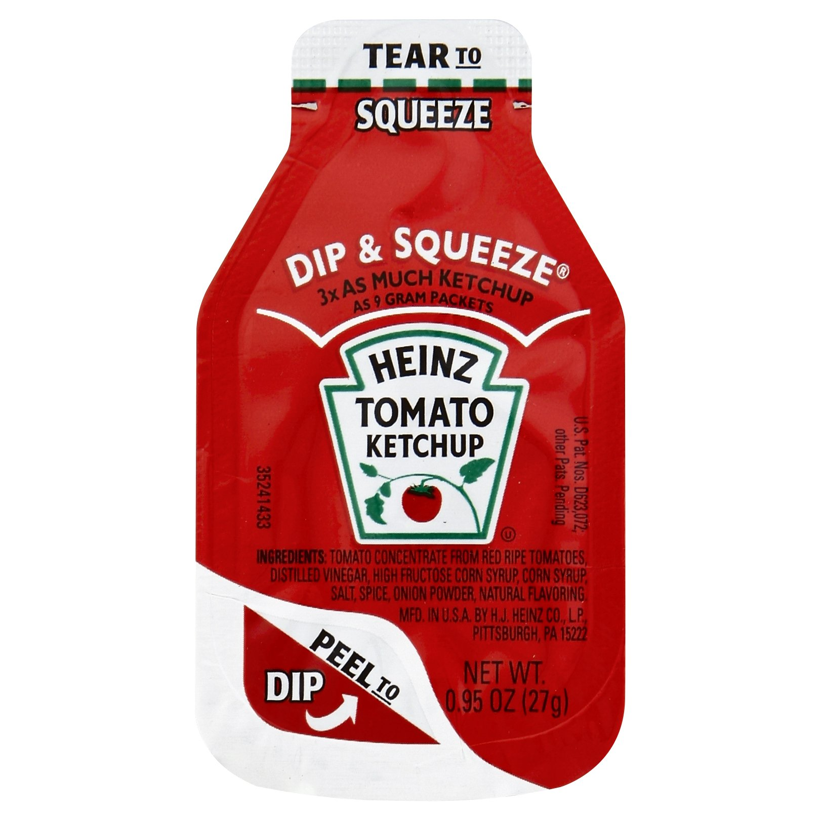 Heinz Ketchup Dip & Squeeze Packets (0.95 oz Packets, Pack of 500) by Heinz