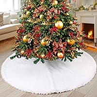 NTMY Faldas para el Árbol de Navidad Blanco