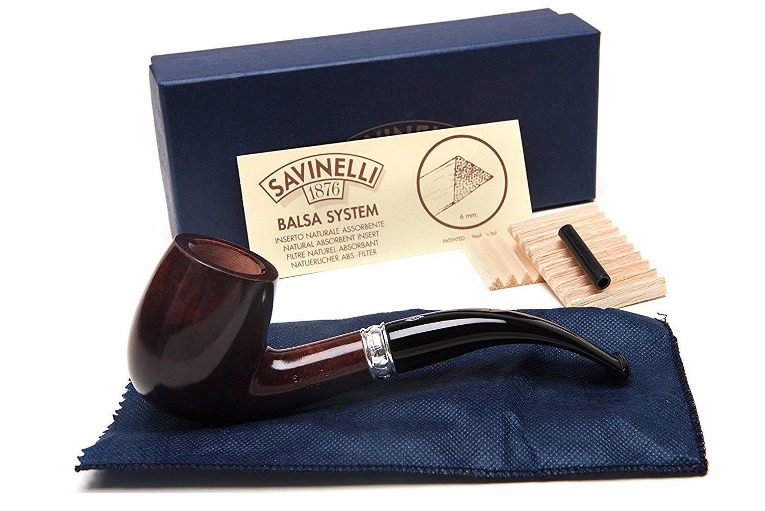 Savinelli Italian Tobacco Smoking Pipes, Trevi Smooth 606 KS