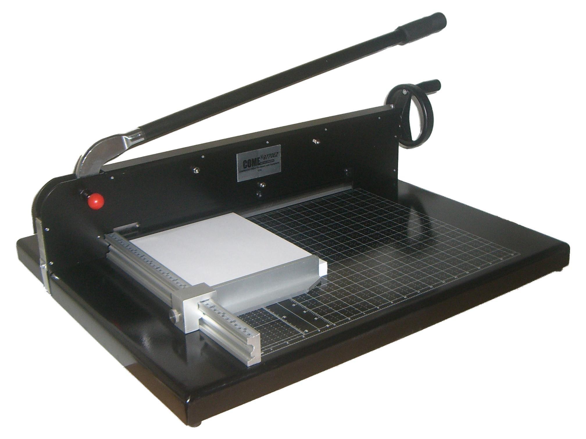 """17'' Guillotine Paper Cutter Desktop Stack Paper Cutter COME 5770EZ 17"""" Cutting Width New"""
