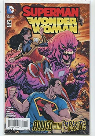Superman Parasite >> Amazon Com Superman Wonder Woman 24 Near Mint Allied With