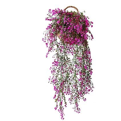 Amazon.com: Guirnalda de flores artificiales para colgar en ...