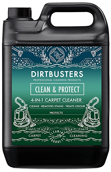 Dirtbusters Clean & Protect 4 in 1 Concentrate 5 Litres Professional Carpet & Upholstery extraction shampoo ...