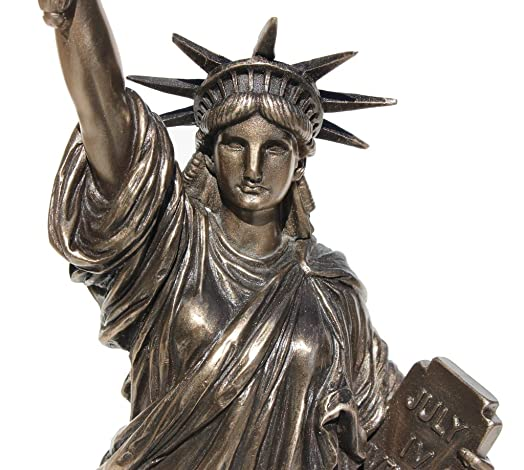 12 3 8 Inch Cold Cast Bronze Resin Statue of Liberty Collectible Figure Statue
