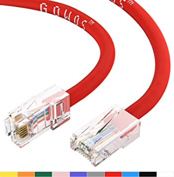 7 Feet Red RJ45 Cat5e Ethernet LAN Network Patch Cable 350 MHz