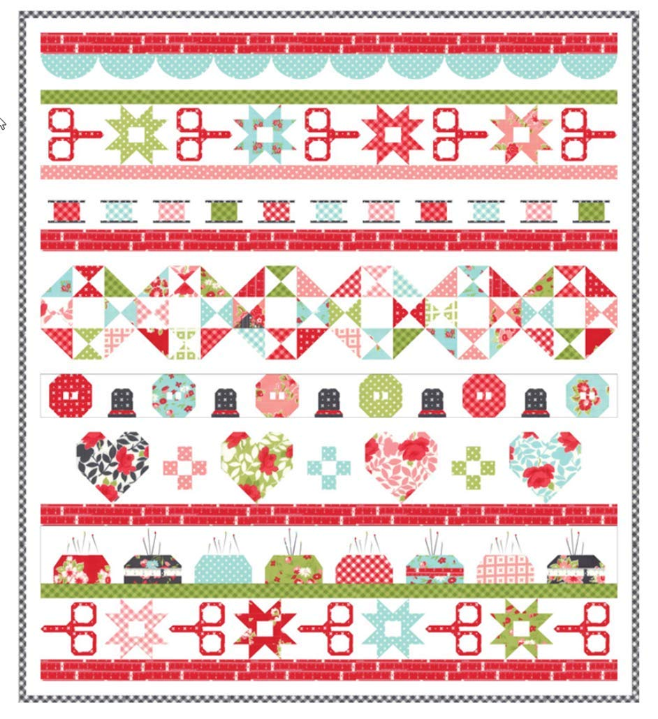 Little Snippets Quilt Day Quilt KIt by Bonnie & Camille for Moda Fabrics by Moda Fabrics