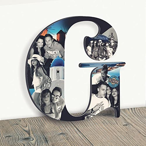 Amazon.com: Custom Photo Collage, Wooden Letter Photo ...