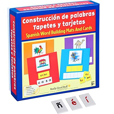 Really Good Stuff Construccion de palabras Tapetes, tarjetas y letras (Spanish Word Building Mats, Cards, and Letter Tiles): Toys & Games