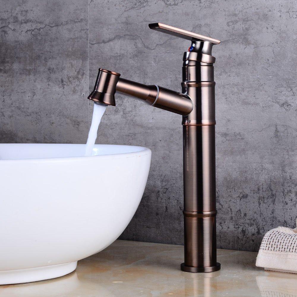 MMYNL TAPS MMYNL Waschtischarmatur Bad Mischbatterie Badarmatur Waschbecken Antike Pull-Down Heiß und Kalt Badezimmer Waschtischmischer