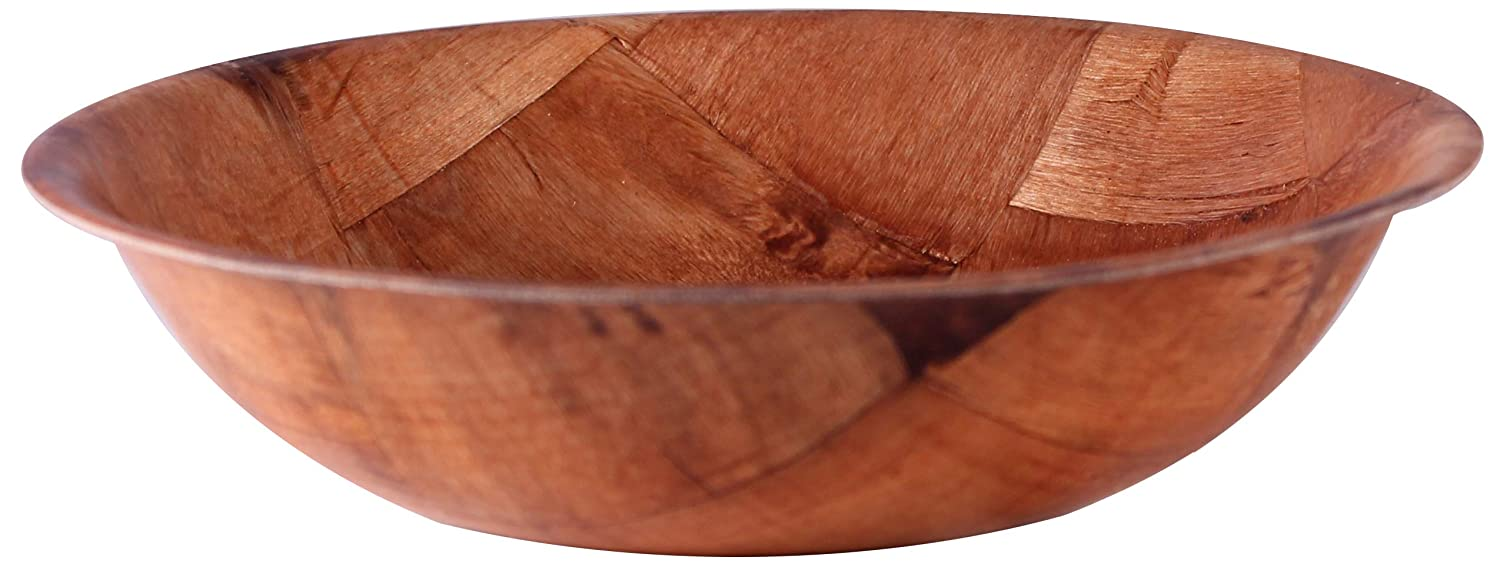 Woven Wood Salad Bowls with Pan Scraper (6-Pack, 8 Inch) MBW NW Brands