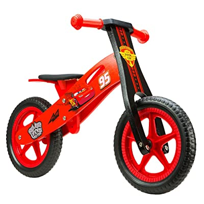 'Disney Enfants Wooden Balance Bike Cars 12Sports, multicolore, M