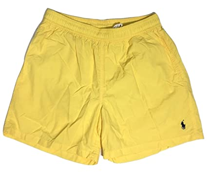 Polo Ralph Lauren Swim Trunk Shorts Mens Xxl Yellow Blue Pony