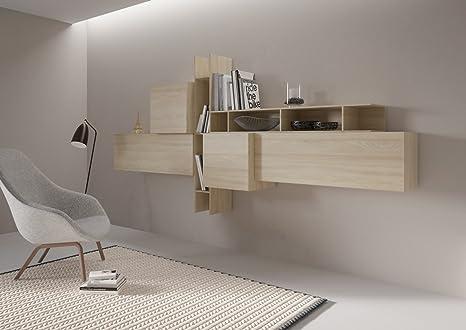 Giessegi Living Soggiorno Componibile Completo, Legno, Olmo, 177.2 x ...