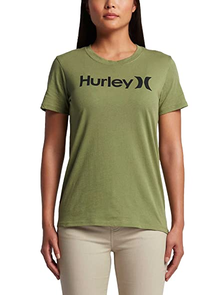 Hurley One And Only Perfect Crew Women's T-Shirts Palm Green