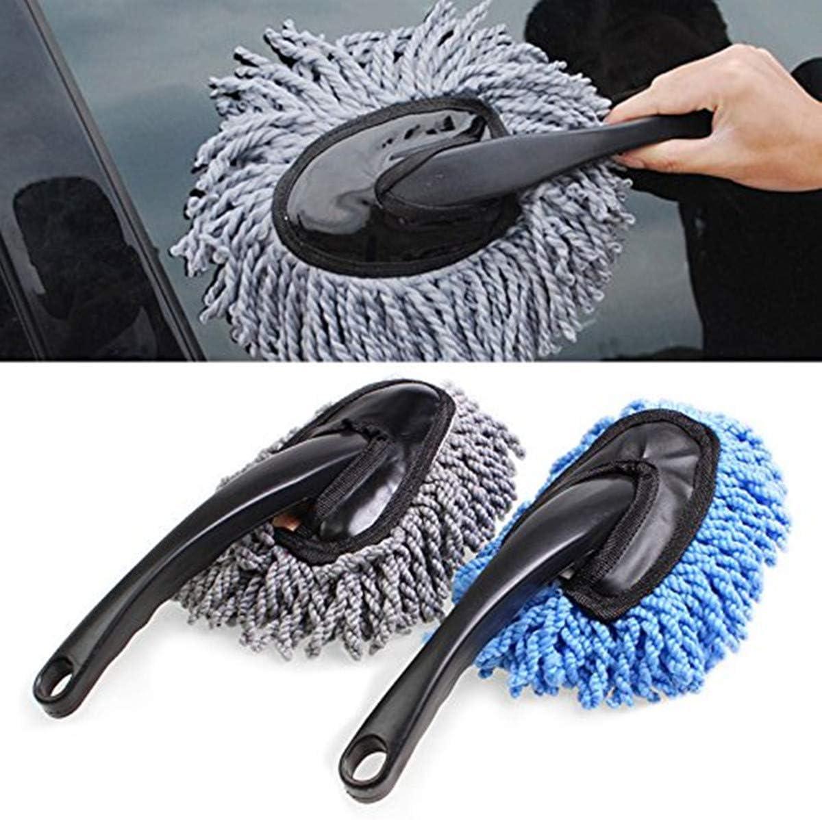 Gris R SODIAL Plumero de limpieza de polvo a distancia de coche con empunadura