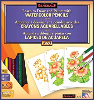 product image for General Pencil Learn Watercolor Pencil Techniques Now Kit