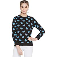 GRITSTONES Women Full Sleeves Cat Printed Full Sleeves T-Shirt