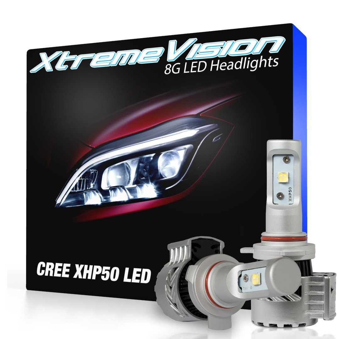 XtremeVision 8G 72W 12,000LM LED Bulb - 9012 LED Headlight Kit - 6500K XHP50 CREE LED