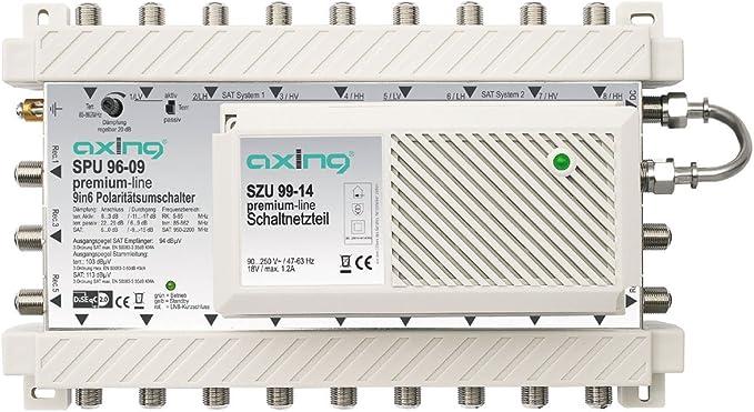 Axing Spu 96 09 Sat Multischalter 6 Teilnehmer Diseqc Elektronik