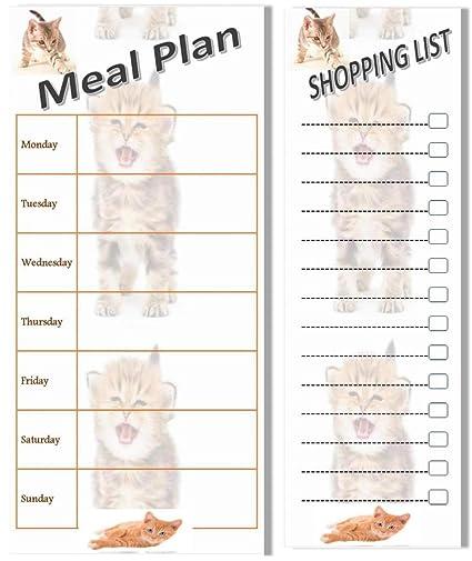 Plan de comidas y compras magnético Stick en nevera lista Bundle ...