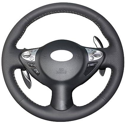 Amazon Com Loncky Auto Genuine Leather Steering Wheel Covers For